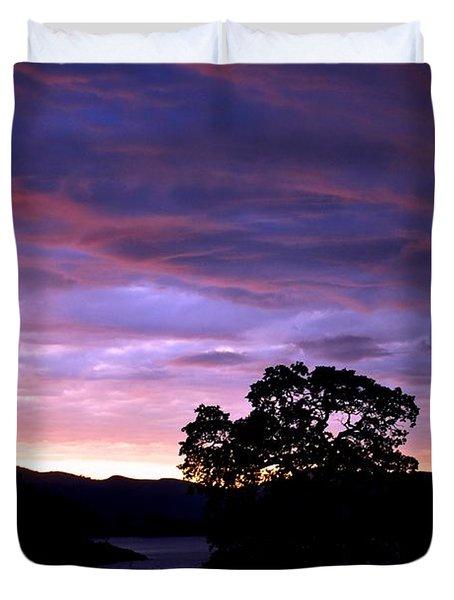 Duvet Cover featuring the photograph Sunset Lake by Matt Harang