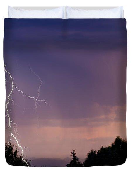 Sunset Lightning Duvet Cover
