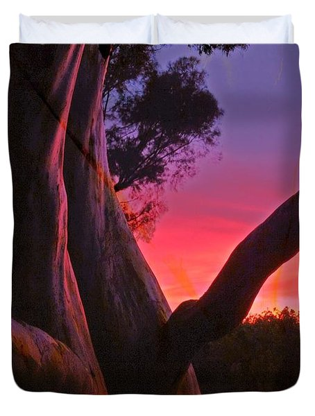 Sunset Madrone 3 Duvet Cover