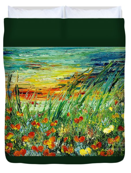 Sunset Meadow Series Duvet Cover