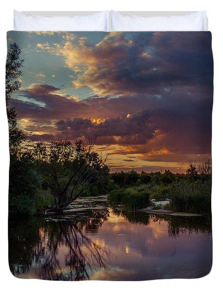 Sunset Mirror Duvet Cover