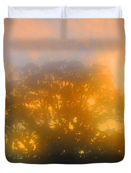 Sunset Mocks Sunrise Duvet Cover