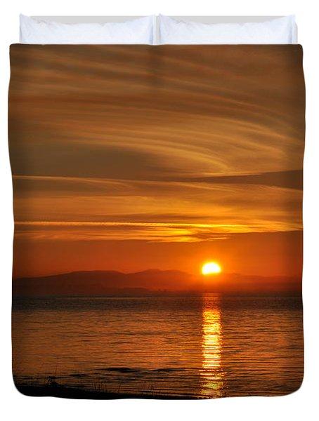 Sunset Mood Duvet Cover by Sabine Edrissi