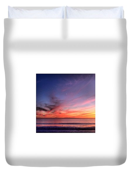 Sunset Moon Rise Duvet Cover