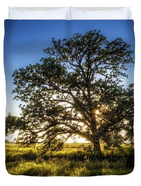 Sunset Oak Duvet Cover
