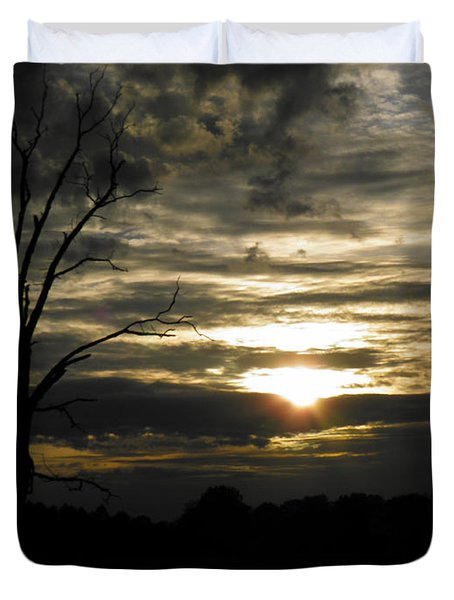 Sunset Of Life Duvet Cover