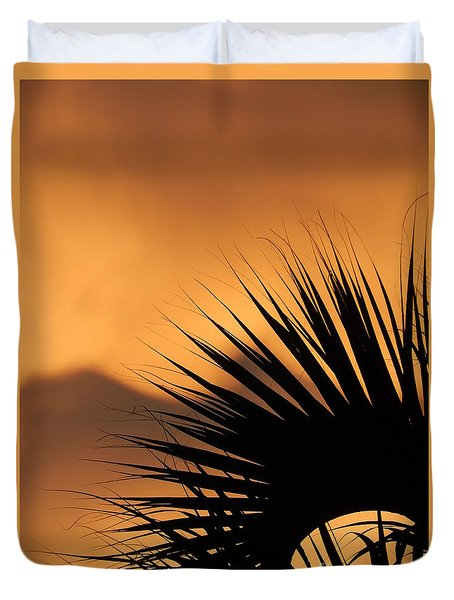 New Orleans Sunset Of The Oasis In The Sky Of Louisiana Duvet Cover by Michael Hoard