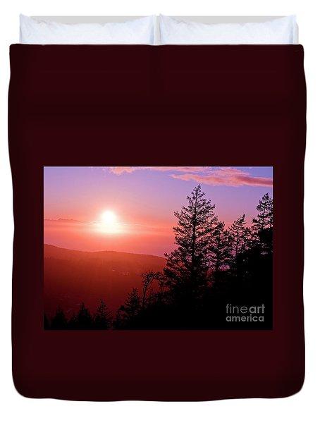 Sunset Off Mt Erie Washington Art Prints Duvet Cover