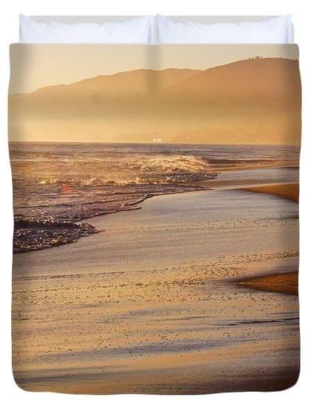 Sunset On A Beach Duvet Cover