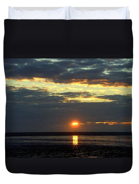 Sunset On A Cloudy Evening Duvet Cover