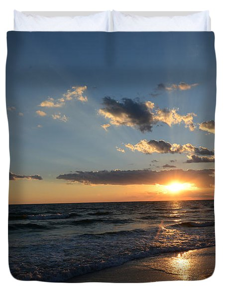 Sunset On Alys Beach Duvet Cover by Julia Wilcox