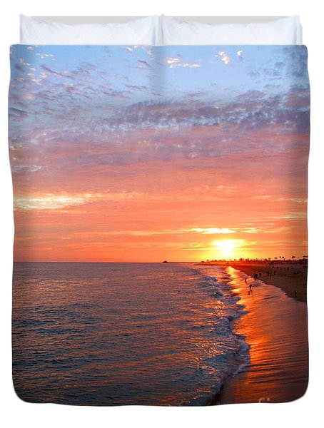 Sunset On Balboa Duvet Cover