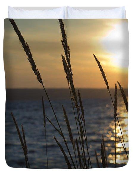 Sunset On Cayuga Lake Duvet Cover