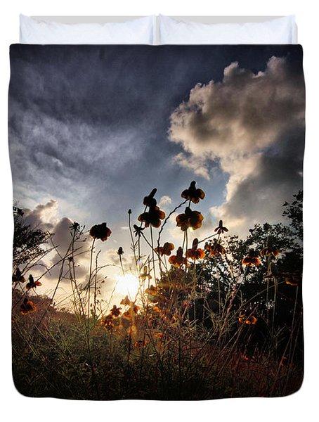Sunset On Daisy Duvet Cover