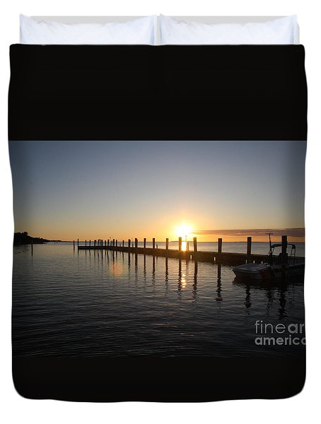 Duvet Cover featuring the photograph Sunset On Key Largo by Christiane Schulze Art And Photography