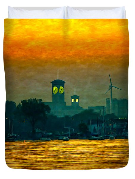 Sunset On Milwaukee's South Side  Duvet Cover