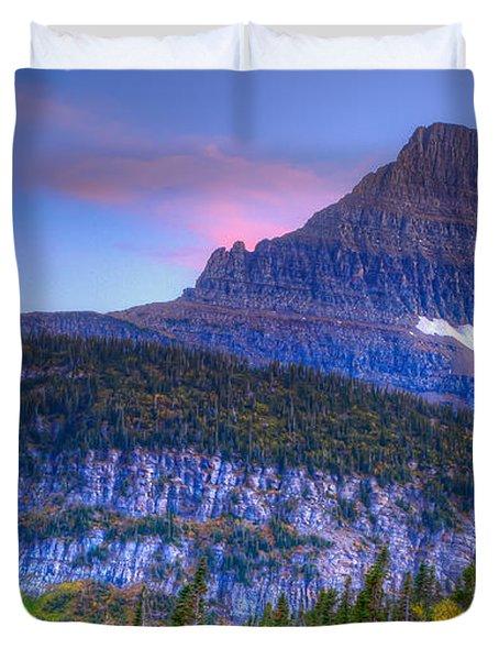 Sunset On Reynolds Mountain Duvet Cover