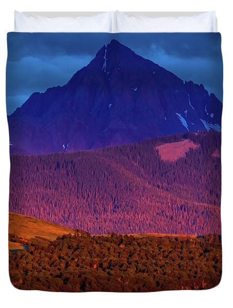 Sunset On San Juan Mountains, Colorado Duvet Cover