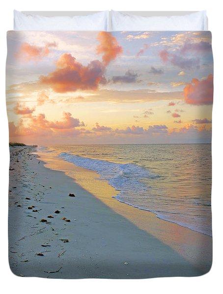 Sunset On Sanibel Duvet Cover