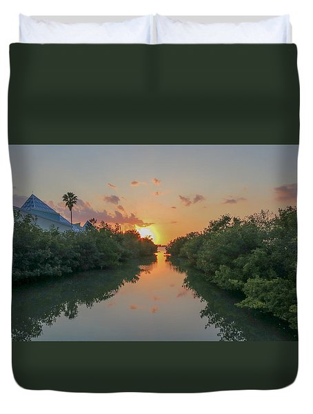 Sunset On Sarasota Bay Duvet Cover