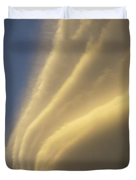 Sunset On Storm Clouds Near Mt Cook Duvet Cover by Ian Whitehouse