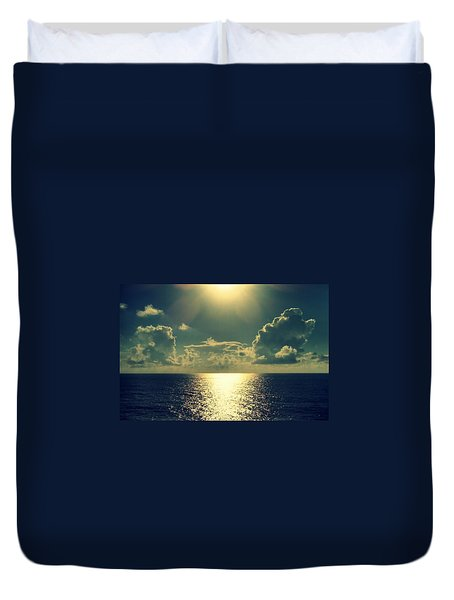 Sunset On The Atlantic Ocean Duvet Cover