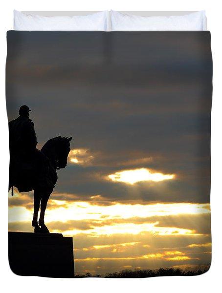 Sunset On The Battlefield Duvet Cover