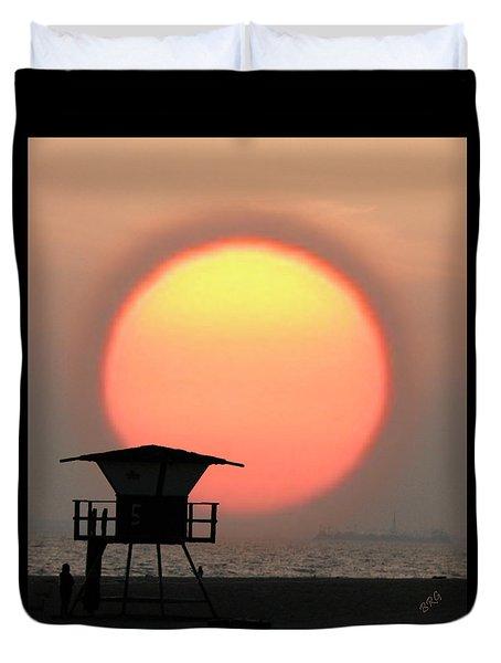 Sunset On The Beach Duvet Cover by Ben and Raisa Gertsberg