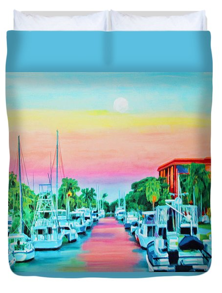 Sunset On The Canal Duvet Cover