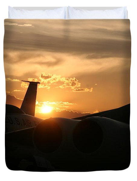 Sunset On The Cold War Duvet Cover