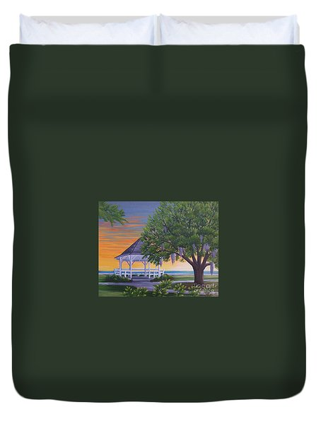Sunset On The Gazeebo Duvet Cover