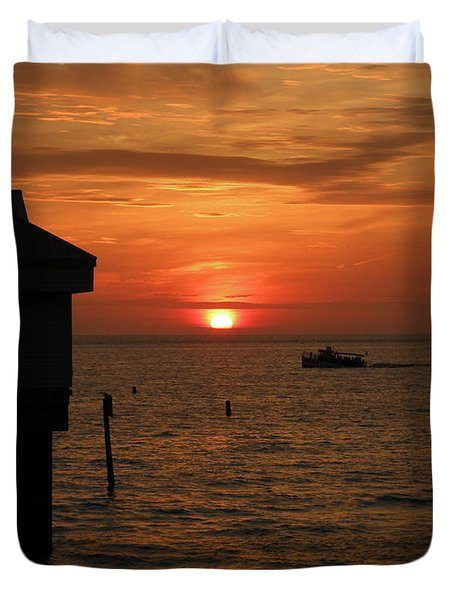 Sunset On The Gulf Of Mexico Duvet Cover