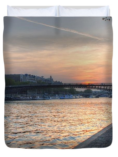 Sunset On The Seine Duvet Cover