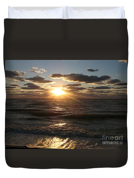 Sunset On Venice Beach  Duvet Cover by Christiane Schulze Art And Photography