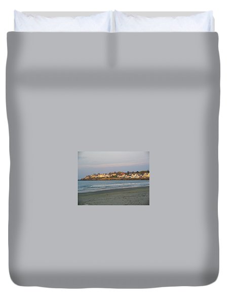 Sunset On York Beach Duvet Cover