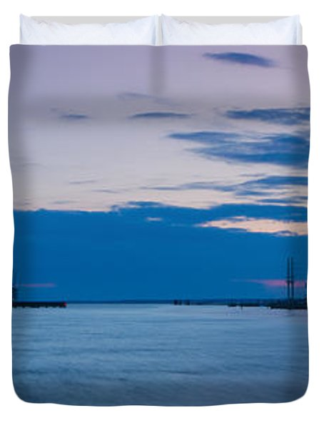 Sunset Over Chincoteague Inlet Duvet Cover