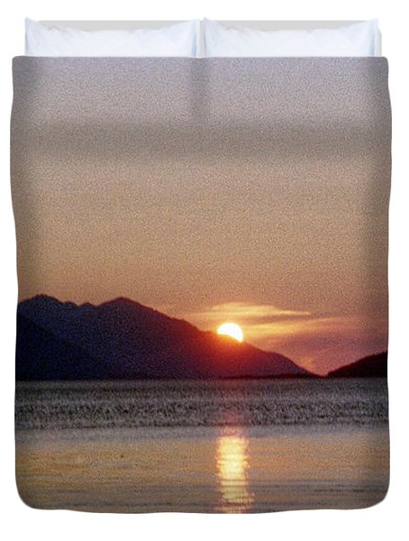 Sunset Over Cook Inlet Alaska Duvet Cover