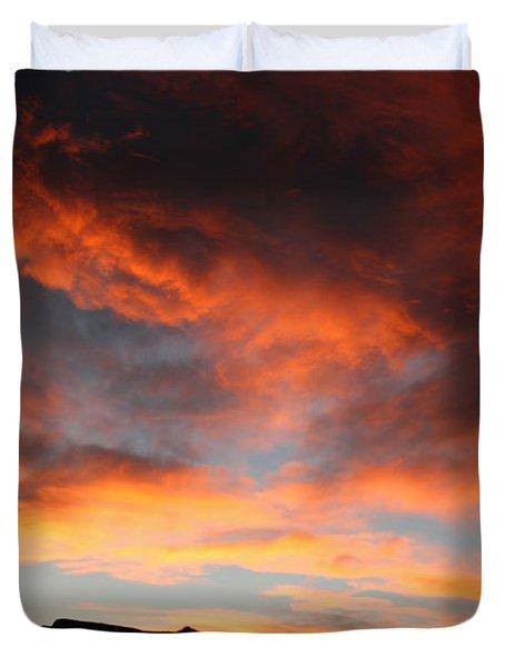 Sunset Over Estes Park Duvet Cover