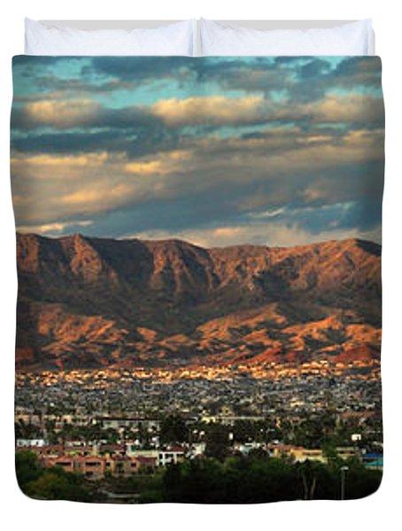 Sunset Over Havasu Duvet Cover