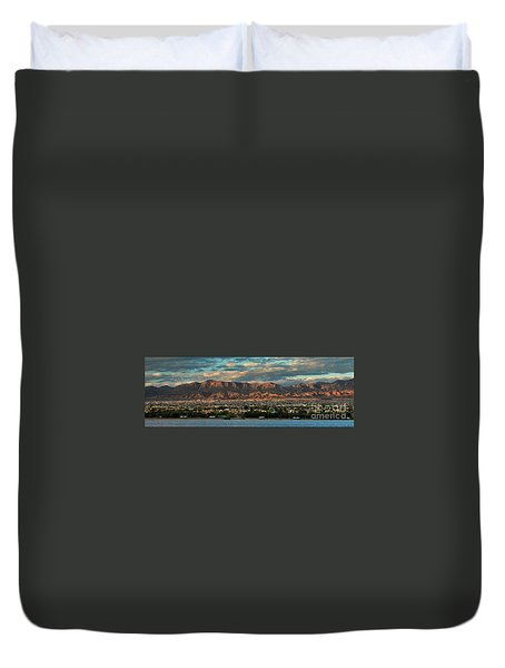 Sunset Over Havasu Duvet Cover