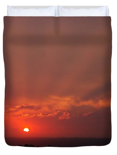 Sunset Over Hope Island 2 Duvet Cover