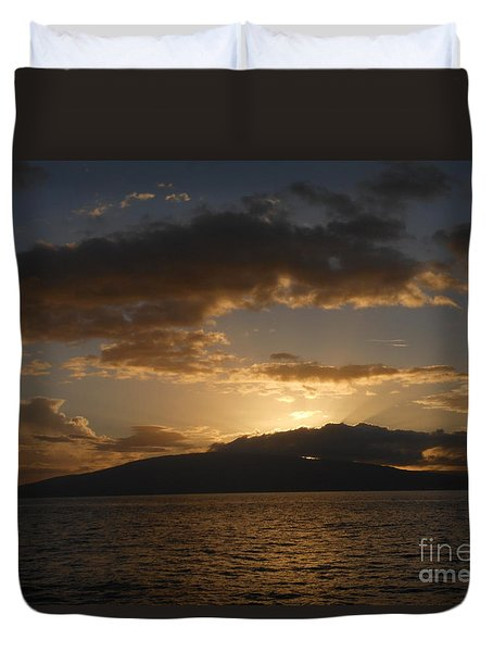 Sunset Over Lanai Duvet Cover by Fred Wilson
