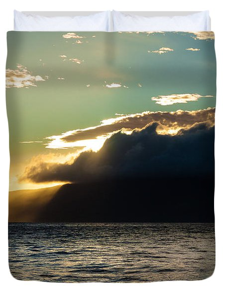 Sunset Over Lanai   Duvet Cover