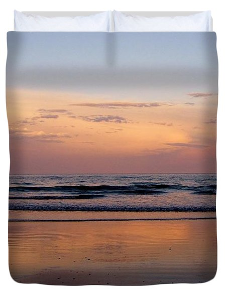 Sunset Over Long Sands Beach II Duvet Cover