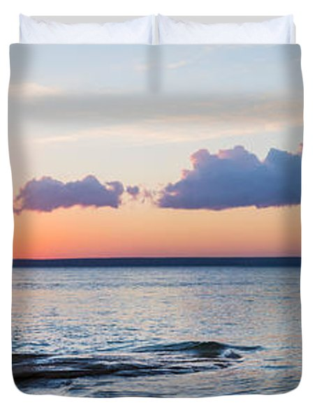 Sunset Over Miners Beach, Pictured Duvet Cover