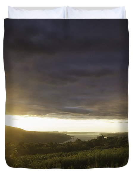 Sunset Over Skaneateles Duvet Cover