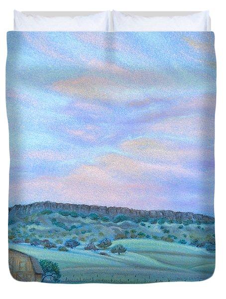 Sunset Over Table Mountain Duvet Cover