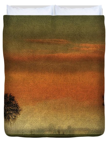 Sunset Over The Country Duvet Cover