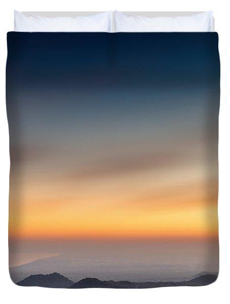 Sunset Over The Gulf Duvet Cover