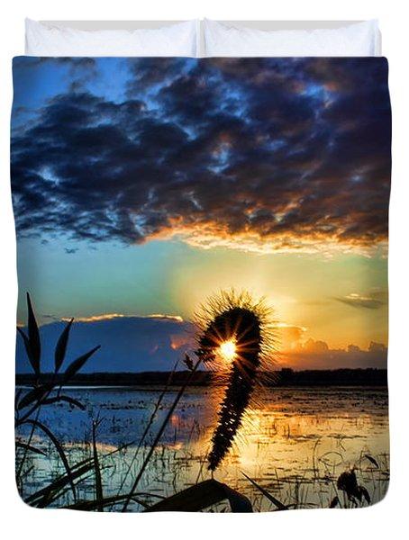 Sunset Over The Refuge Duvet Cover